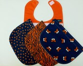 Auburn, Tiger baby bibs, War Eagle, infant, uni-sex, polka dot, interchangeable, roll tide