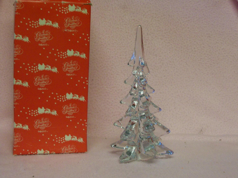 Vintage glass christmas tree by enesco orig