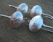 Silver Shell Earrings, 1 pair