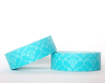 Sky Blue Damask Washi Tape