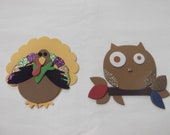 Turkey & Owl Foam Magnets