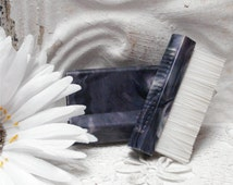 Cheslan Purple Marbled Bakelite Celluloid Vanity Brush USA