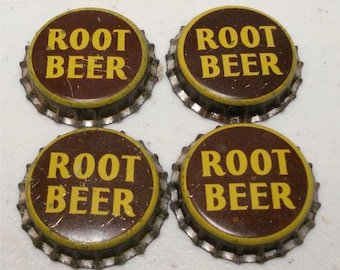 Vintage Soda Bottle Cap ROOT BEER Cork Back
