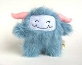 Plush Monster: Puffy the blue monster