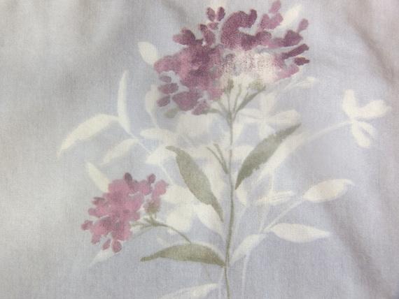 Vintage Standard Pillowcase - Shabby Purple Flowers