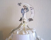 Wedding Cake Topper - Custom Portrait - Hand Painted - Personalized