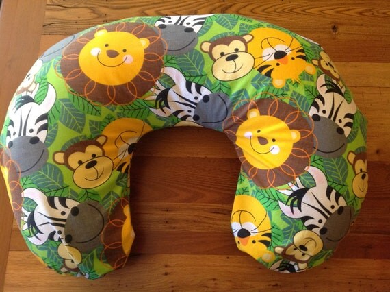 Animal Nursing Pillow : 5 DOLLAR SALE item ZoO AnIMaL BoPPy pillow cover Breastfeeding