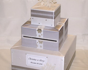 Winter/Snowflakes theme Card Box-any colors