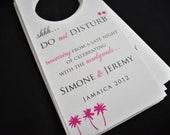 Wedding Door Hangers/Do not disturb signs