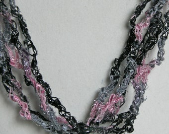 Silver Dawn - Crocheted Necklace