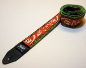 JURASSIC Handmade Guitar Strap - Dinosaurs - Fossils - Choice of 3 colors - This is NOT a licensed product