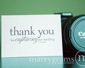 Wedding Card to Your Photographer -- Thank You for Capturing Our Wedding - Videographer