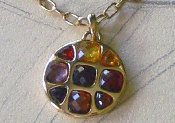 faceted cut stone necklace