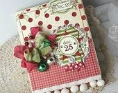 Shabby Chic Christmas December 25 Glitter Star handmade card stamped