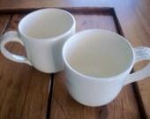 Mug,  Coffee Cup, White, Handmade Earthenware Pottery,  Ready to Ship