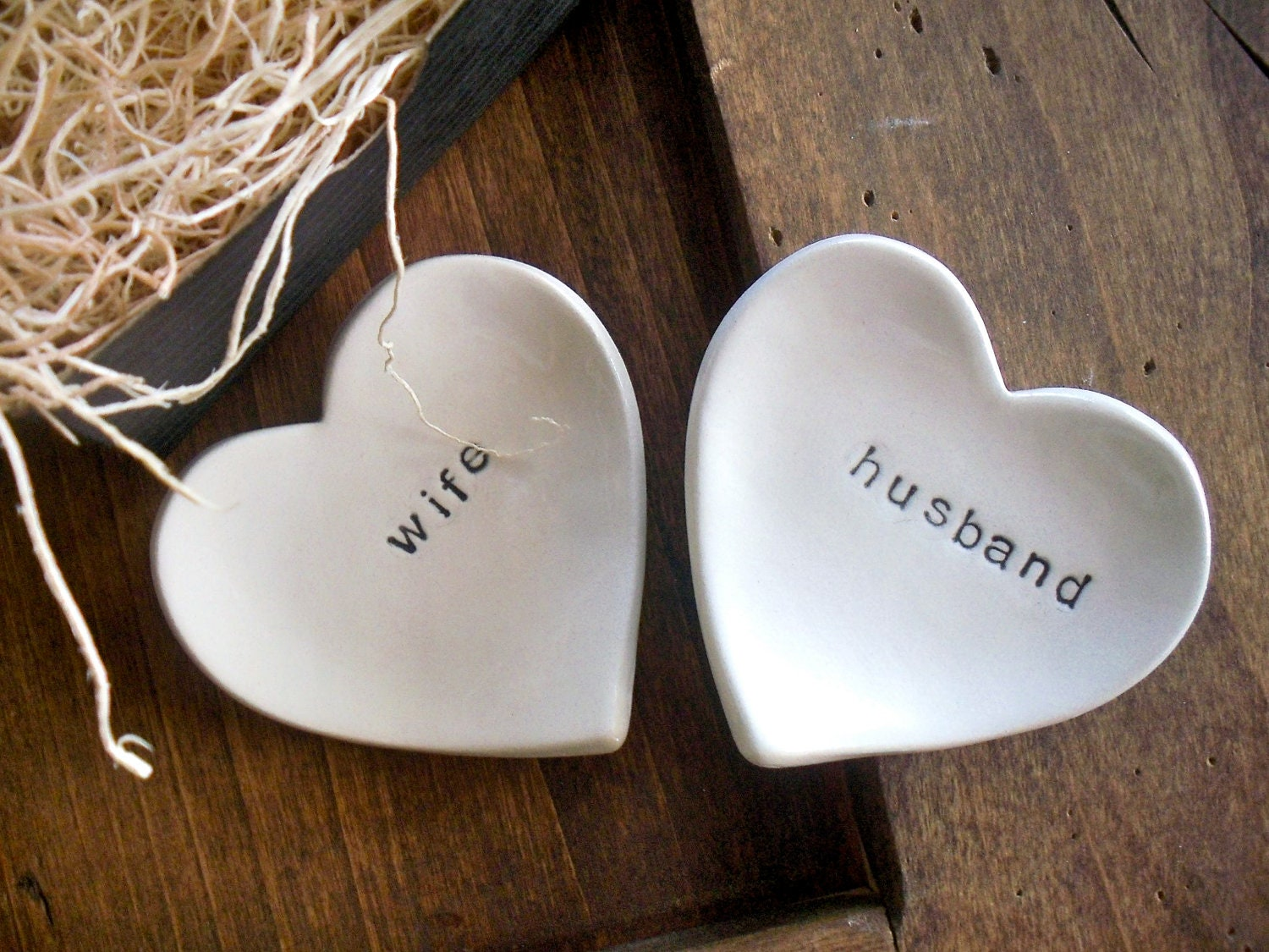 Ring Dish Wedding Ring Holder Husband And Wife By