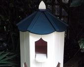 dovecote six sided painted cream and green bird house box