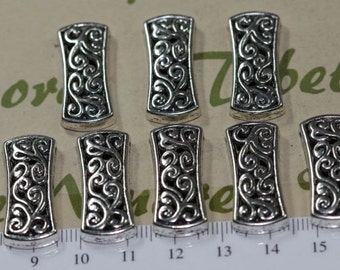 8 pcs per pack 26x8mm 3 Strands Filigree Spacer Bar Antique Antique Silver Lead Free Pewter