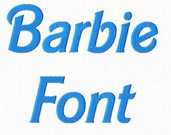 Barbie Style Machine Embroidery Font Monogram Alphabet - 3 Sizes