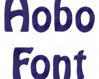 Hobo Machine Embroidery Font Monogram Alphabet - 3 Sizes