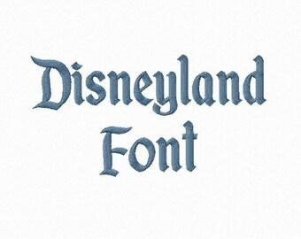Disneyland Machine Embroidery Font Monogram Alphabet - 3 Sizes