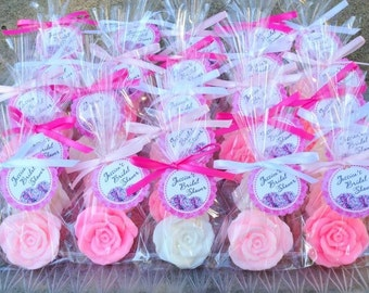 25 ROSE SOAPS {Favors} - Bridal Shower Favor, Wedding Favor, Valentine's Day, Mothers Day, Perfect Gift