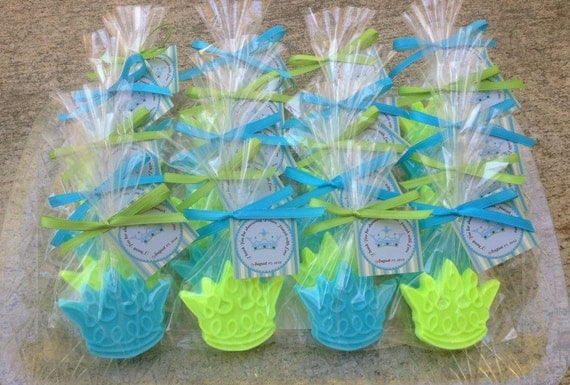 25 CROWN SOAPS {Favors} - Prince, Princess, Little Man, Queen, Birthday Party, Baby Shower, 1st Birthday, Soap Favors, Gold, Royal Blue