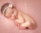 Jessica Simpson vintage Bloom : Newborn Headband  - Blush  - Newborn Photo Prop -  halo,  flower headband, newborn head band
