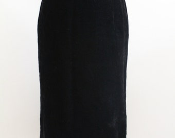 Niedieck Brilliant Black Velvet Skirt Large 1970's