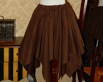 "Custom Made -- Cotton Pixie Petal Skirt -- 8 Point, 23"" Point Length"