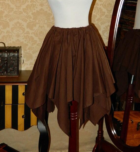 "Custom Made -- Cotton Pixie Petal Skirt -- 8 Point, 23"" Point Length"