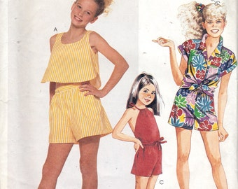 McCall's 3052 Children's Tops and Shorts Pattern, UNCUT, Size 4-5-6