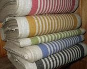 French Canvas pure Linen fabric strips Upholstery Decorator Ecru light Gray Heavy Weight New ECO-friendly - custom yardage