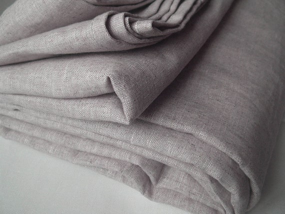Natural Linen duvet cover Queen size Medium weight Oatmeal or White or Mustard or Taupe color - Custom size