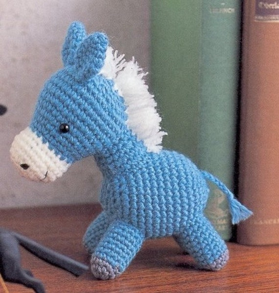 Amigurumi Ponytail : Amigurumi Pony Horse Plush Crochet Pattern PDF