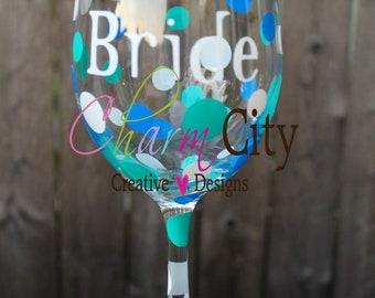 20oz Wine Glass Bride