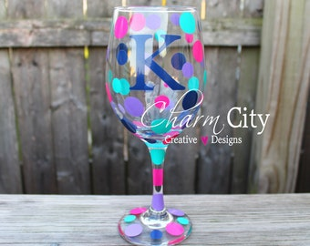 Personalized Wine Glass 20 oz Bachelorette, birthday, Valentines day,