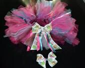SALE Cupcake Tutu and Matching Bow