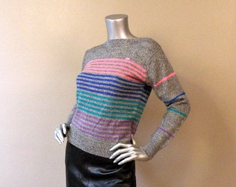 70s 80s Casual Cool Britannia Sweater  Small Medium