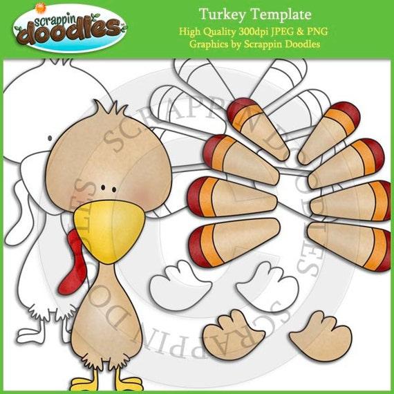 Turkey Template Clip Art
