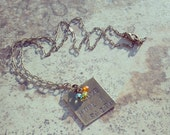 Love Hope & Faith Hand Stamped Pendant with chain