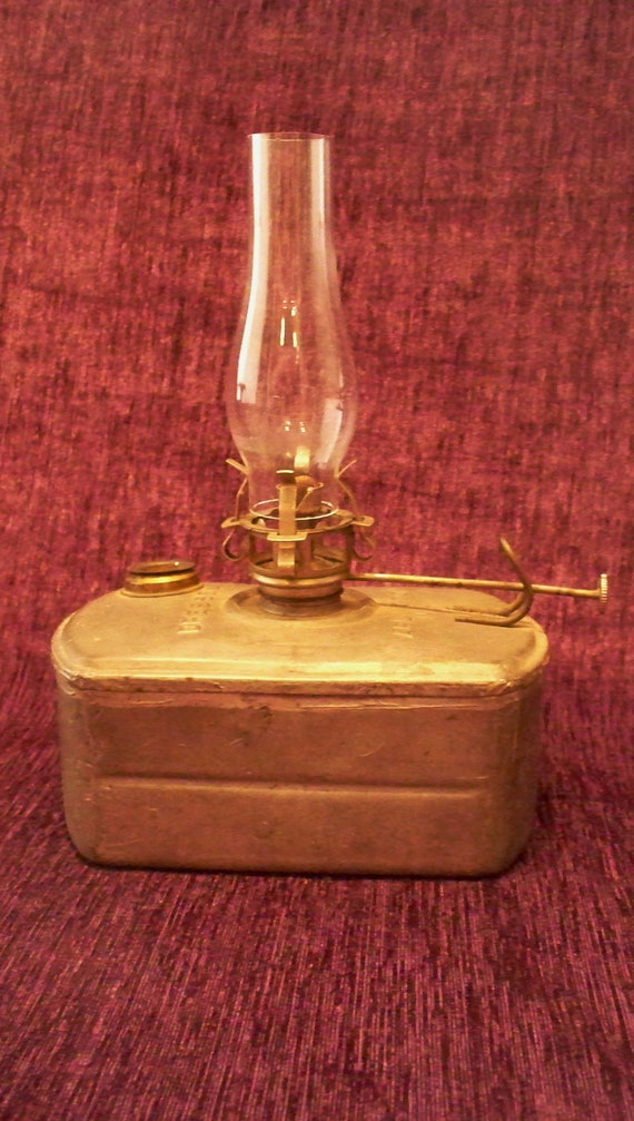 Antique Dressel Oil Lamp Wwi Hand Held By Vintagesouthwest