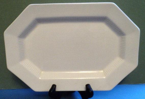 White Ironstone Serving Platter