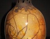 Golden Egg Raku Ceramic Vase