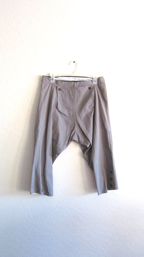 Men's Size Med. Cotton Fall Front Breeches