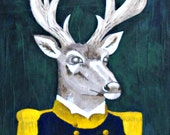 Admiral Deer Portrait - Original Painting - Extra Large Animal Portrait