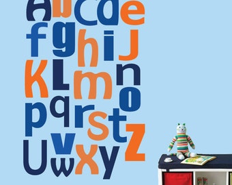 Alphabet Decal LARGE Reusable Wall Decal - 328SWA