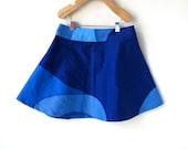 Marimekko Girls Skirt - 5T in Beautiful Blue Cotton