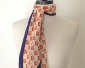 Vintage scarf / silky scarf / neck scarf