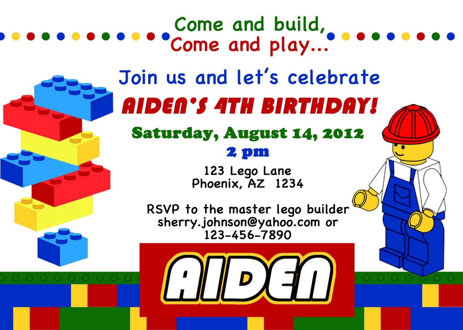 Stupendous image pertaining to lego birthday invitations printable